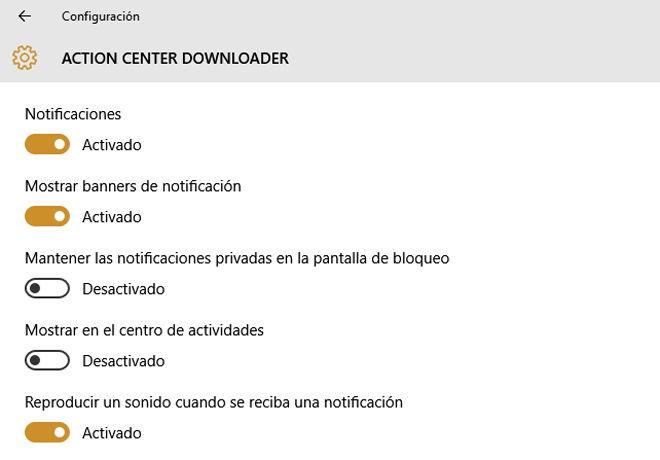 Quitar el sonido de las notificaciones en Windows 10
