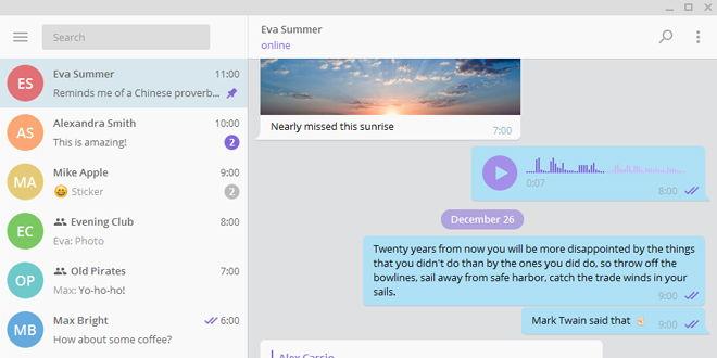 Telegram para escritorio