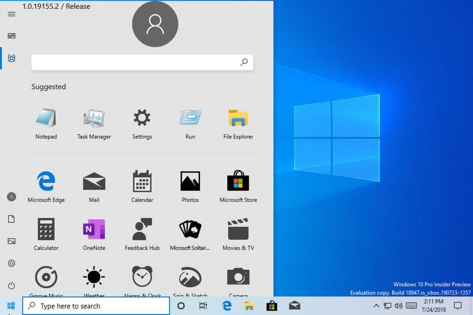 Windows 10 menú inicio