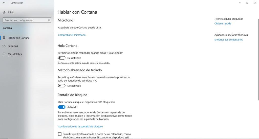 Desactivar Cortana